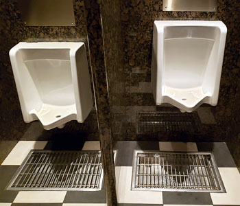 Commercial Restaurant Urinals - Orange Plumbing Project